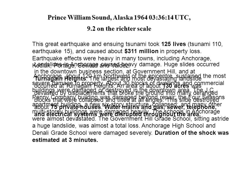 Prince William Sound, Alaska 1964 03:36:14 UTC,
