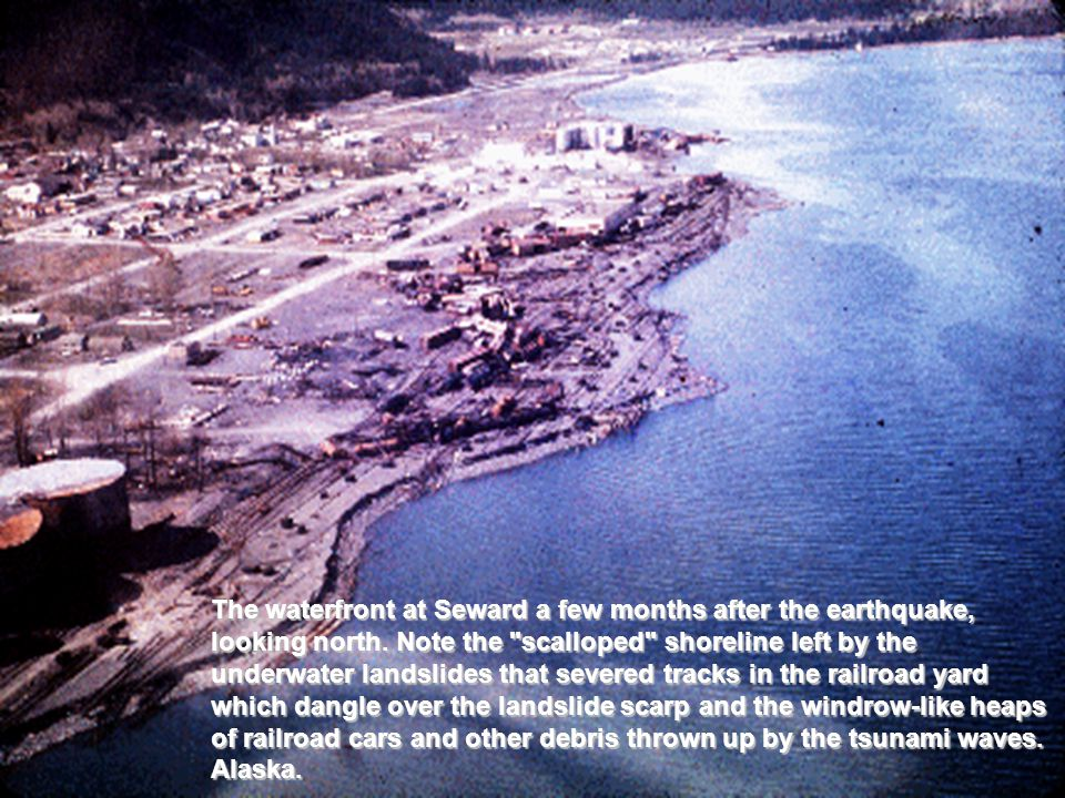 The waterfront at Seward a few months after the earthquake, looking north.