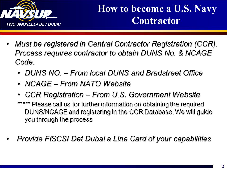 How to become a U.S. Navy Contractor