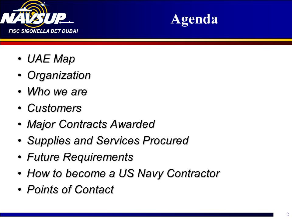 Agenda UAE Map Organization Who we are Customers