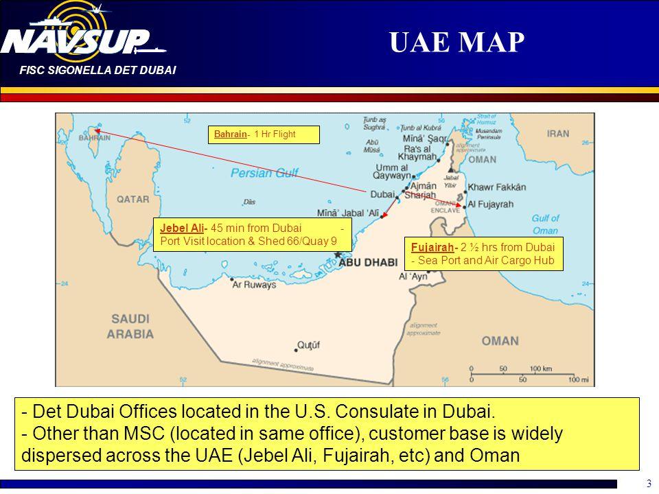 UAE MAP Bahrain- 1 Hr Flight. Jebel Ali- 45 min from Dubai - Port Visit location & Shed 66/Quay 9.