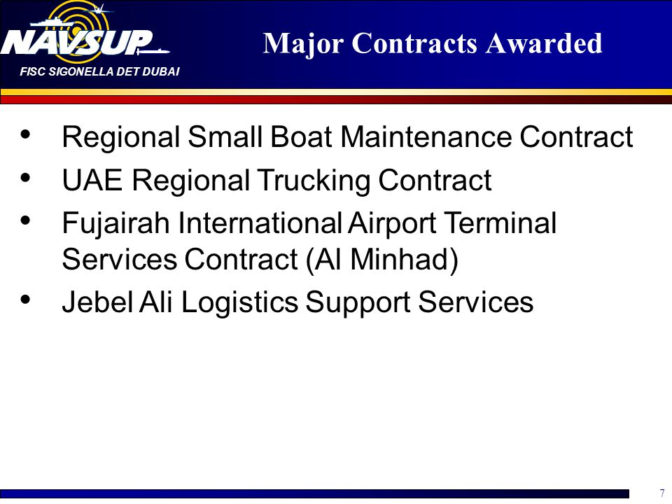 Major Contracts Awarded