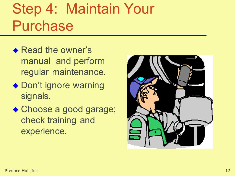 Step 4: Maintain Your Purchase