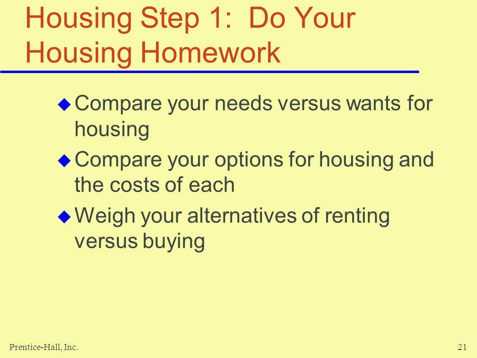 Housing Step 1: Do Your Housing Homework