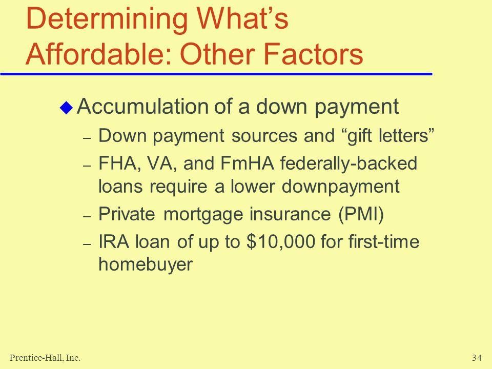 Determining What's Affordable: Other Factors