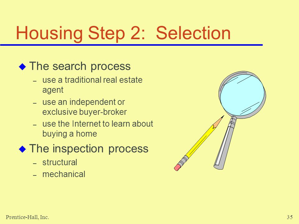 Housing Step 2: Selection