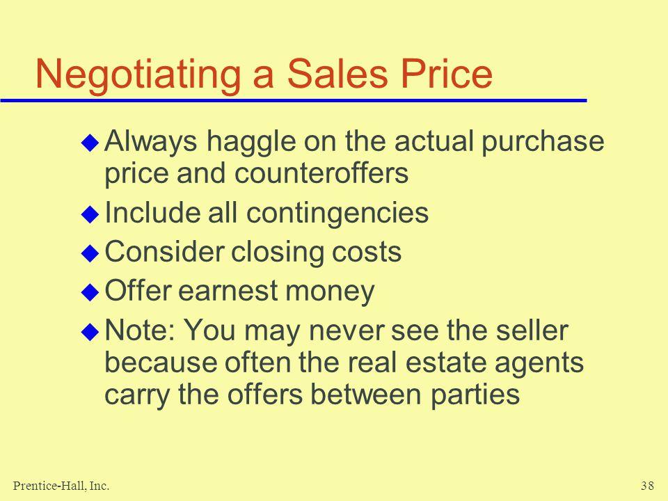 Negotiating a Sales Price