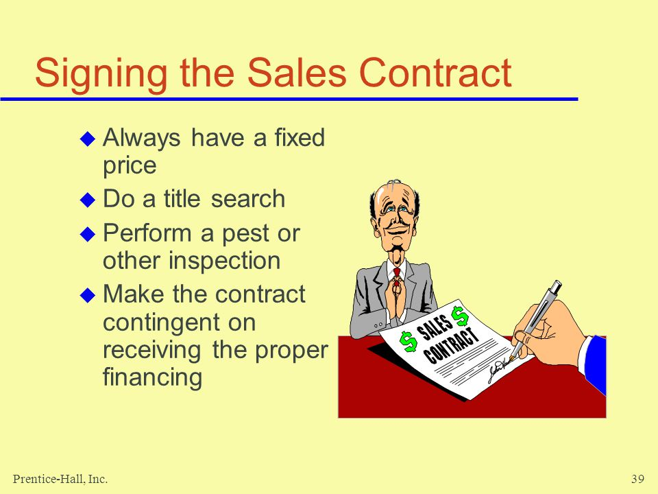 Signing the Sales Contract