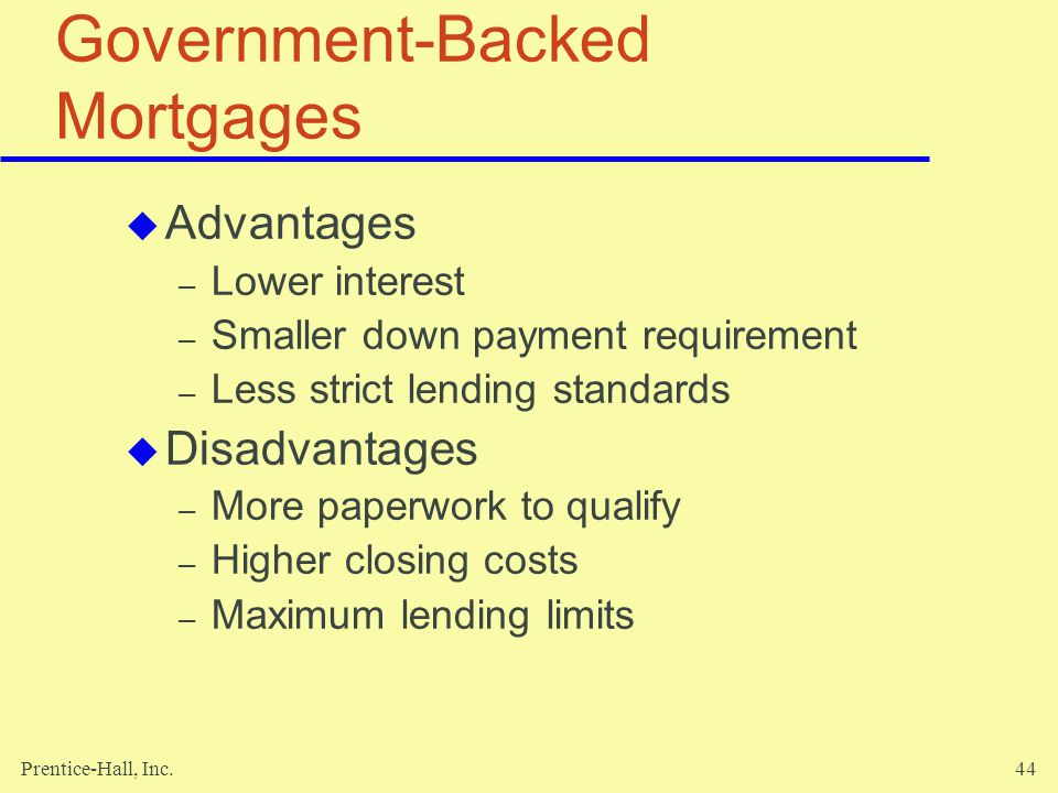 Government-Backed Mortgages