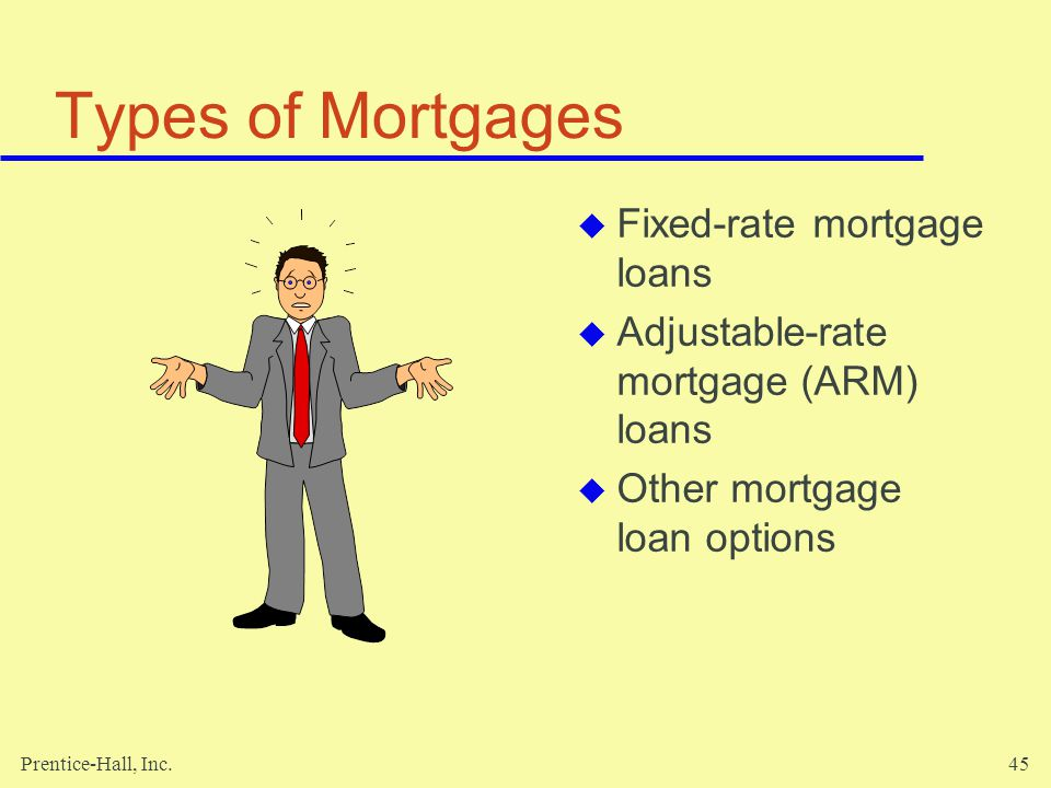 Types of Mortgages Fixed-rate mortgage loans