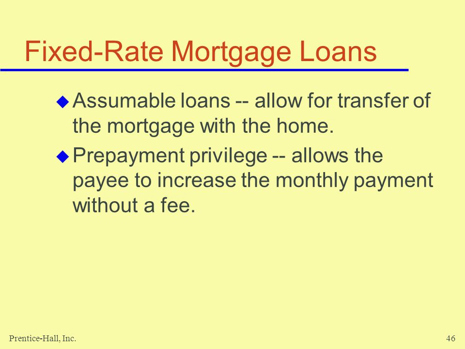 Fixed-Rate Mortgage Loans