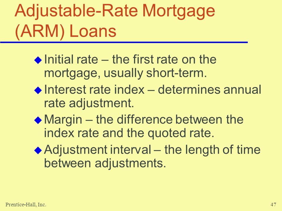 Adjustable-Rate Mortgage (ARM) Loans