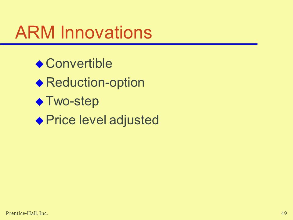 ARM Innovations Convertible Reduction-option Two-step