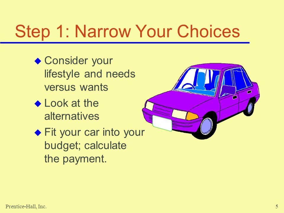 Step 1: Narrow Your Choices