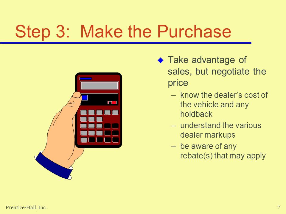 Step 3: Make the Purchase