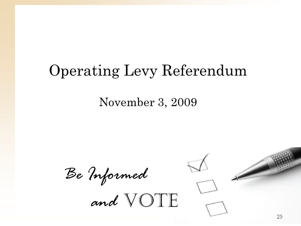 Operating Levy Referendum
