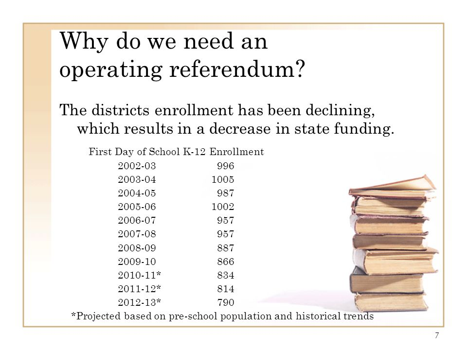 Why do we need an operating referendum