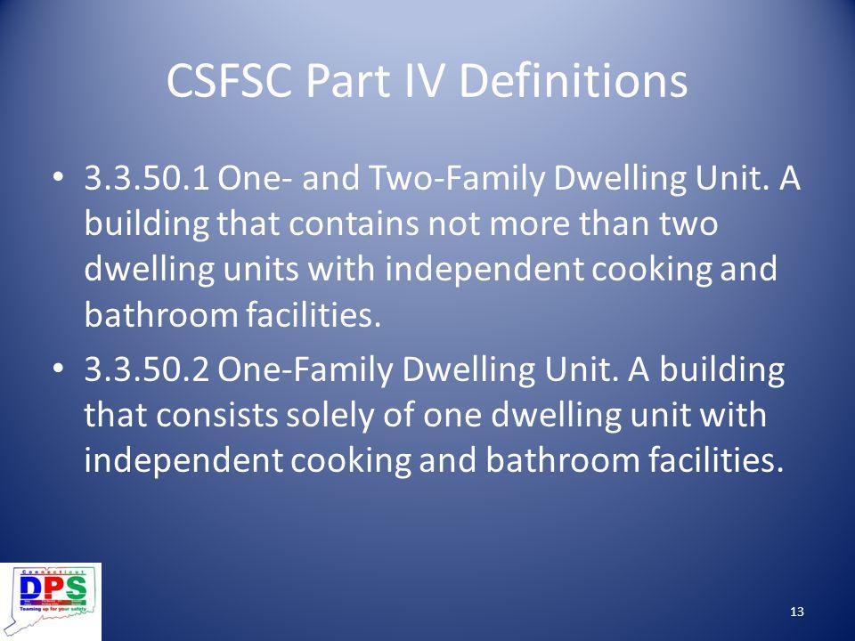 CSFSC Part IV Definitions