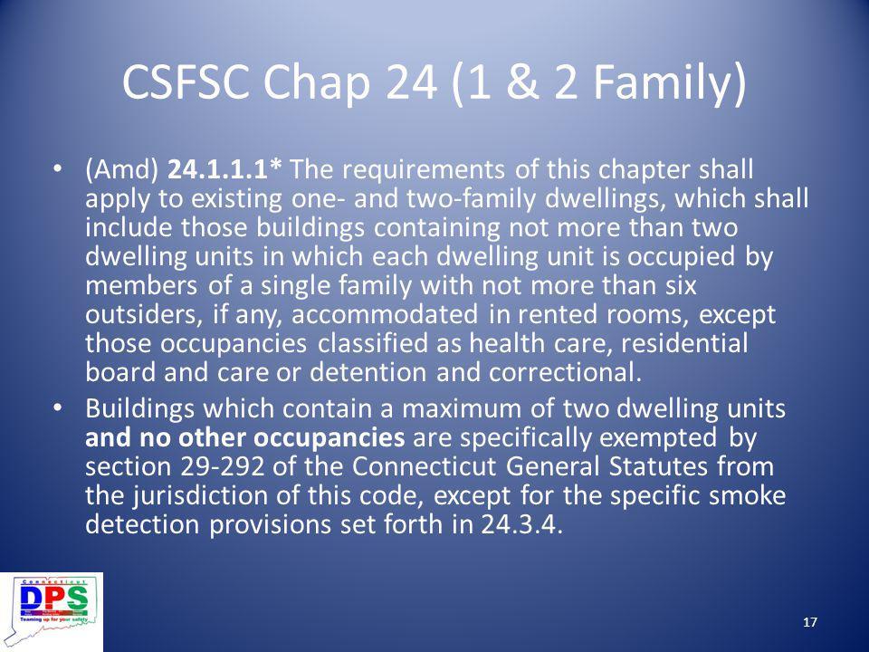CSFSC Chap 24 (1 & 2 Family)