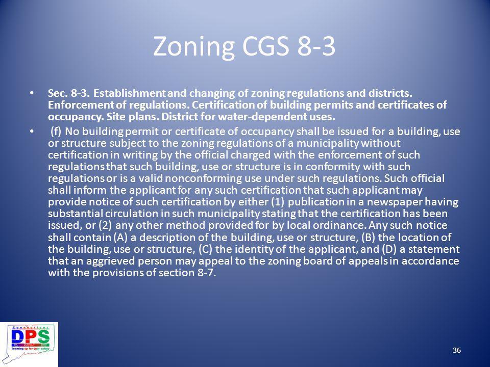 Zoning CGS 8-3
