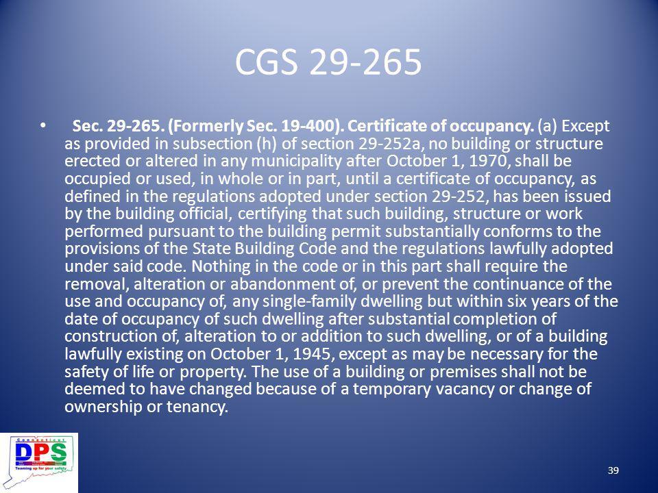 CGS 29-265
