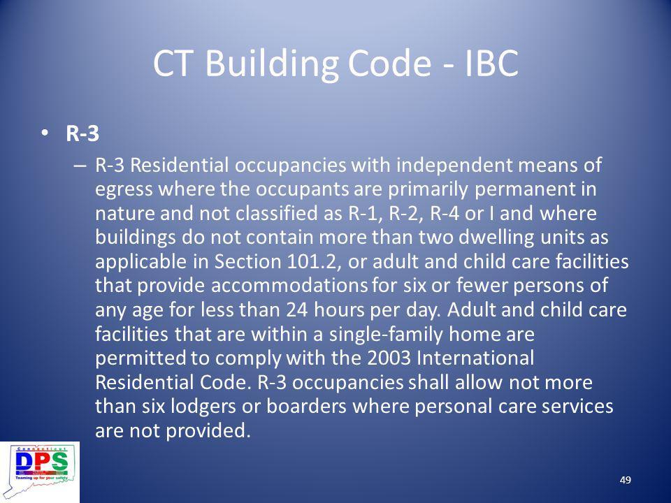 CT Building Code - IBC R-3