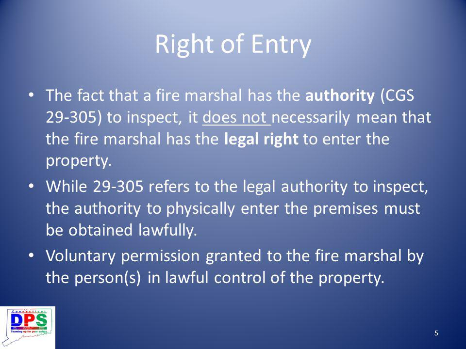 Right of Entry