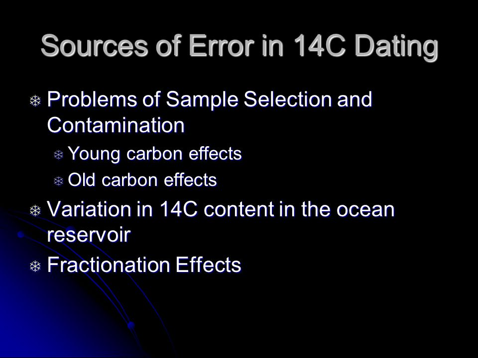 Carbon dating sample problems in statistics 1