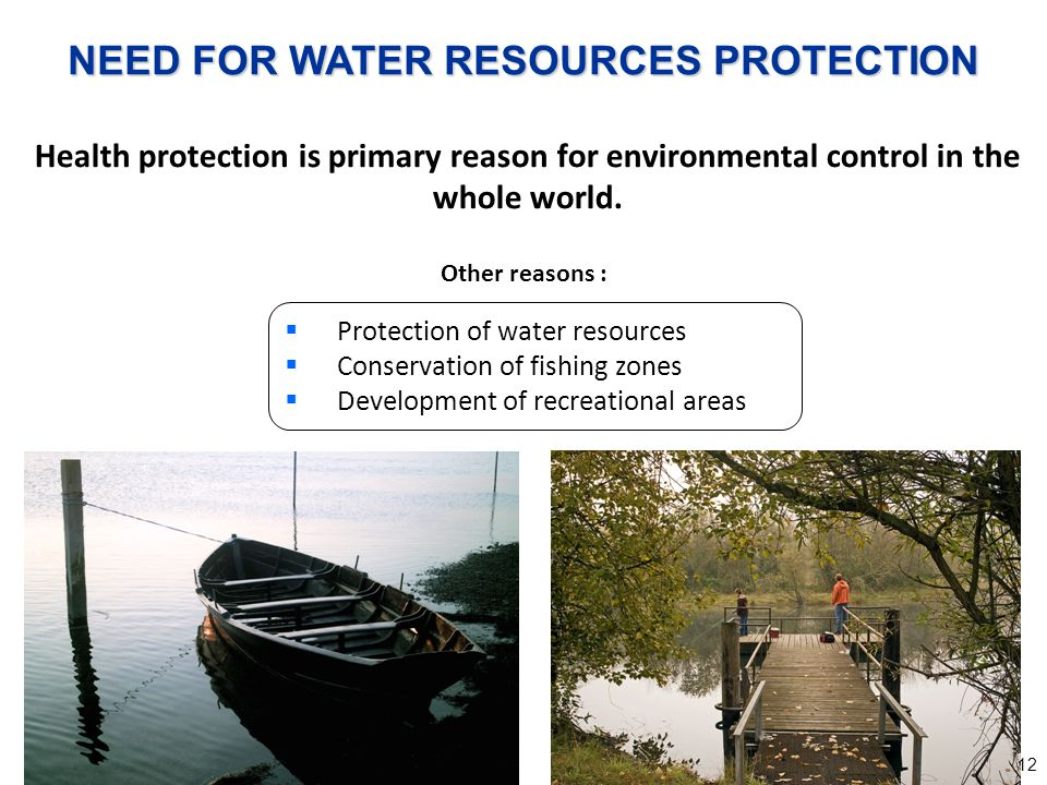 NEED FOR WATER RESOURCES PROTECTION