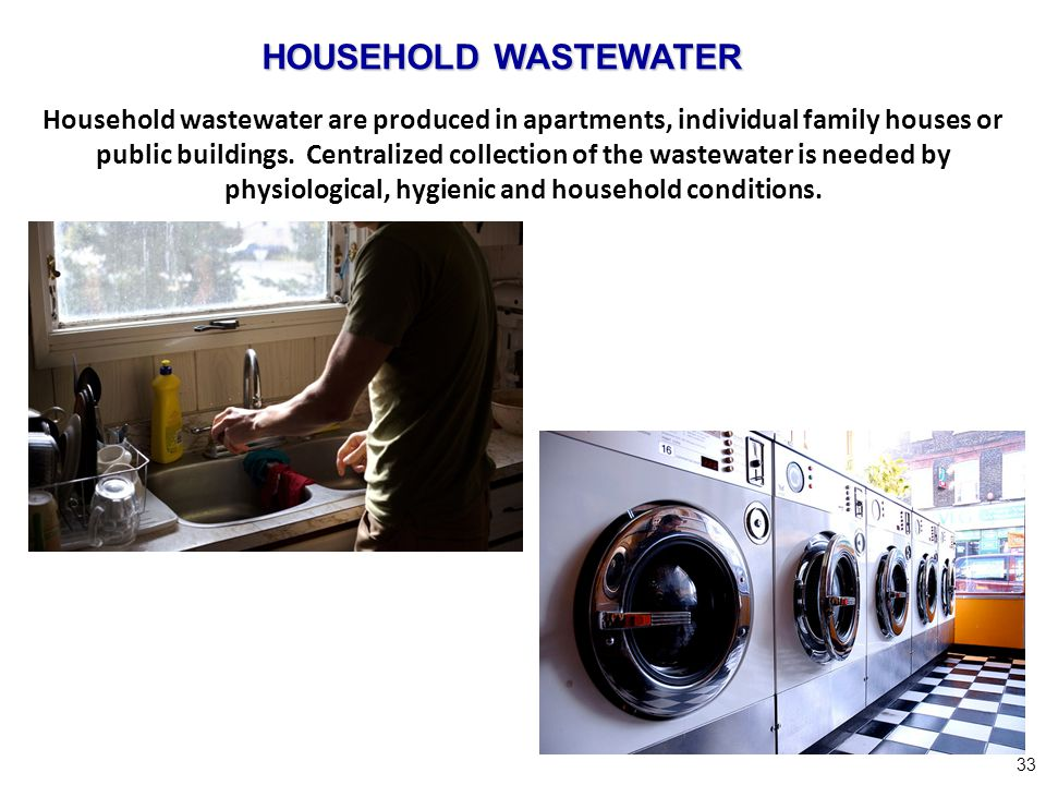 HOUSEHOLD WASTEWATER