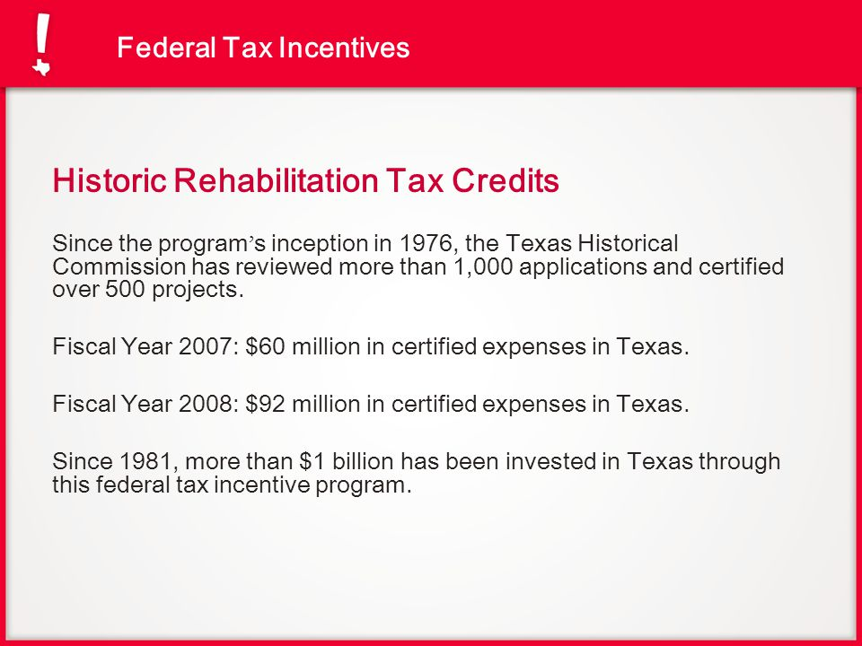 Historic Rehabilitation Tax Credits