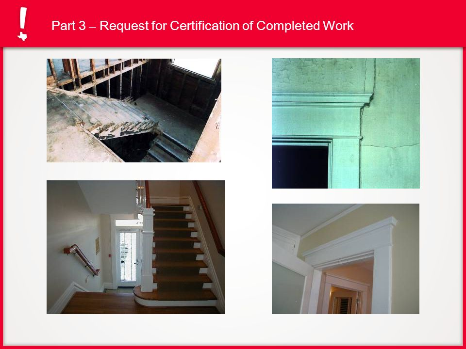 Part 3 – Request for Certification of Completed Work