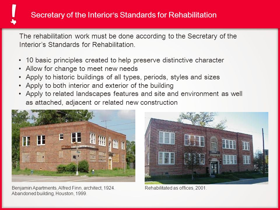 Secretary of the Interior's Standards for Rehabilitation