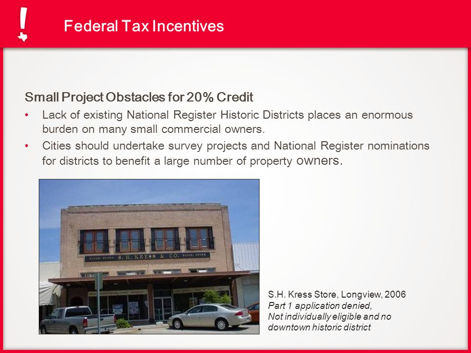 Federal Tax Incentives