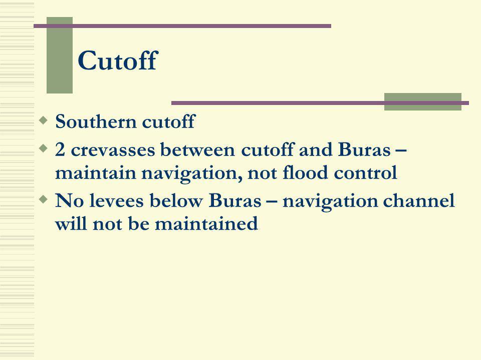 Cutoff Southern cutoff
