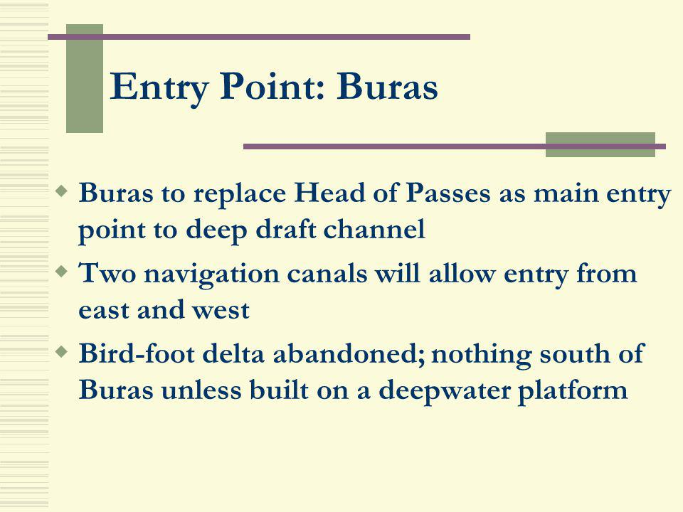 Entry Point: Buras Buras to replace Head of Passes as main entry point to deep draft channel.