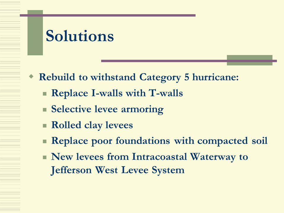 Solutions Rebuild to withstand Category 5 hurricane: