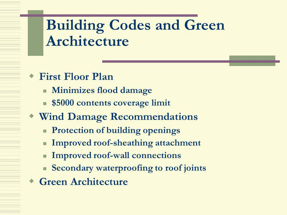 Building Codes and Green Architecture