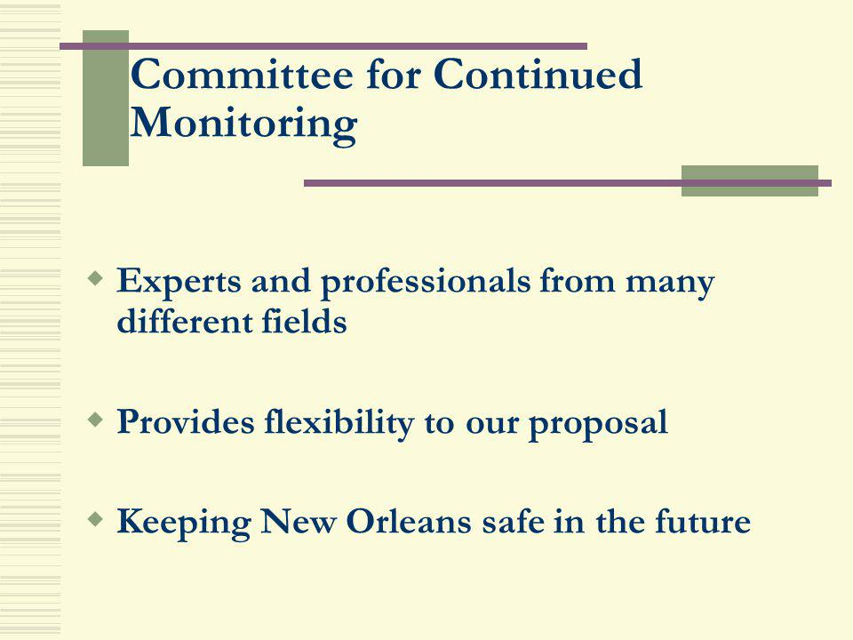 Committee for Continued Monitoring