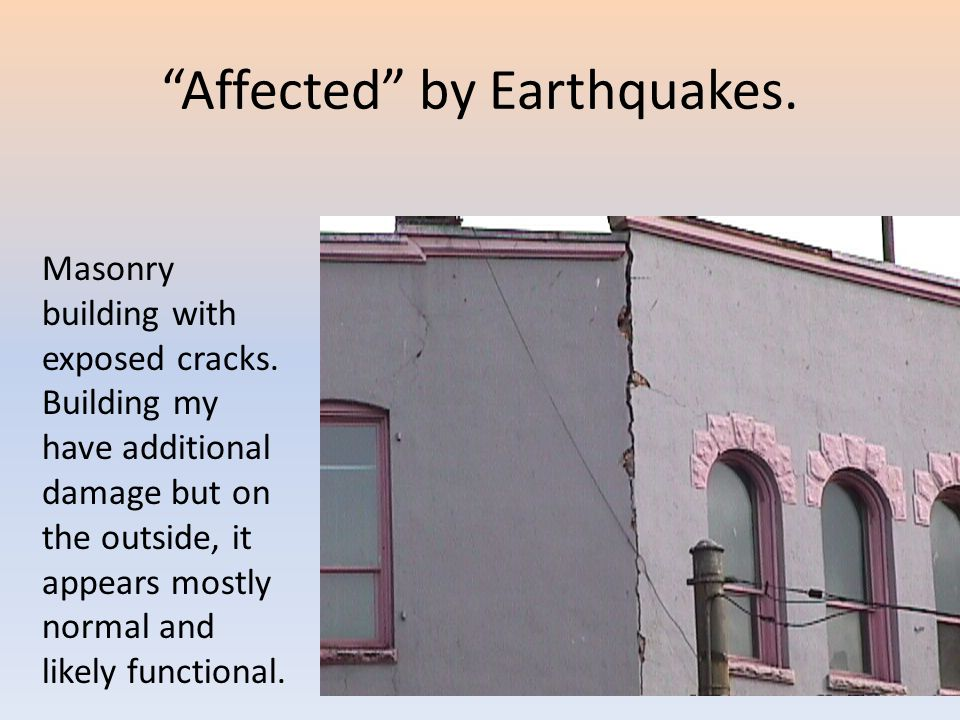 Affected by Earthquakes.