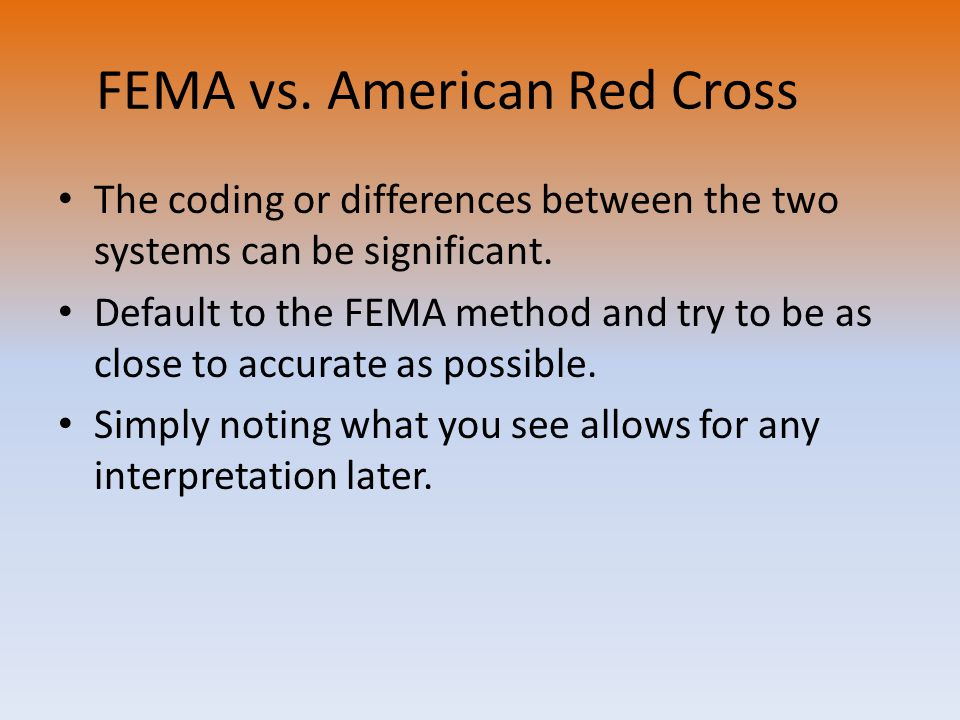 FEMA vs. American Red Cross