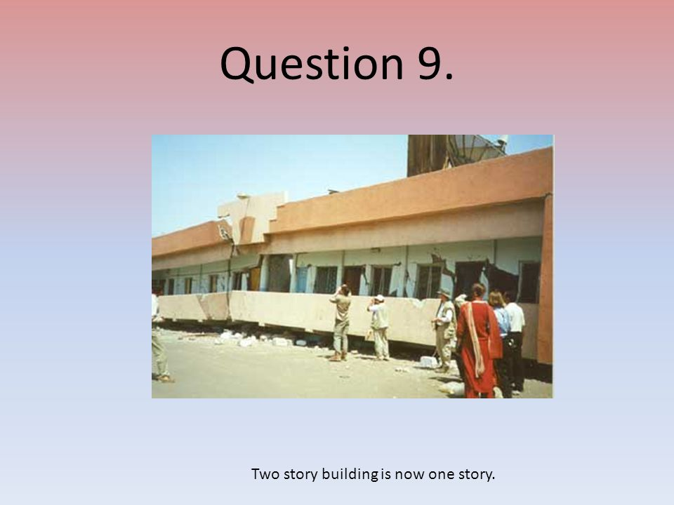 Two story building is now one story.