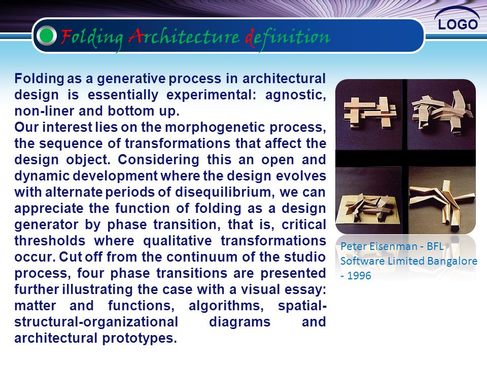 Folding Architecture definition