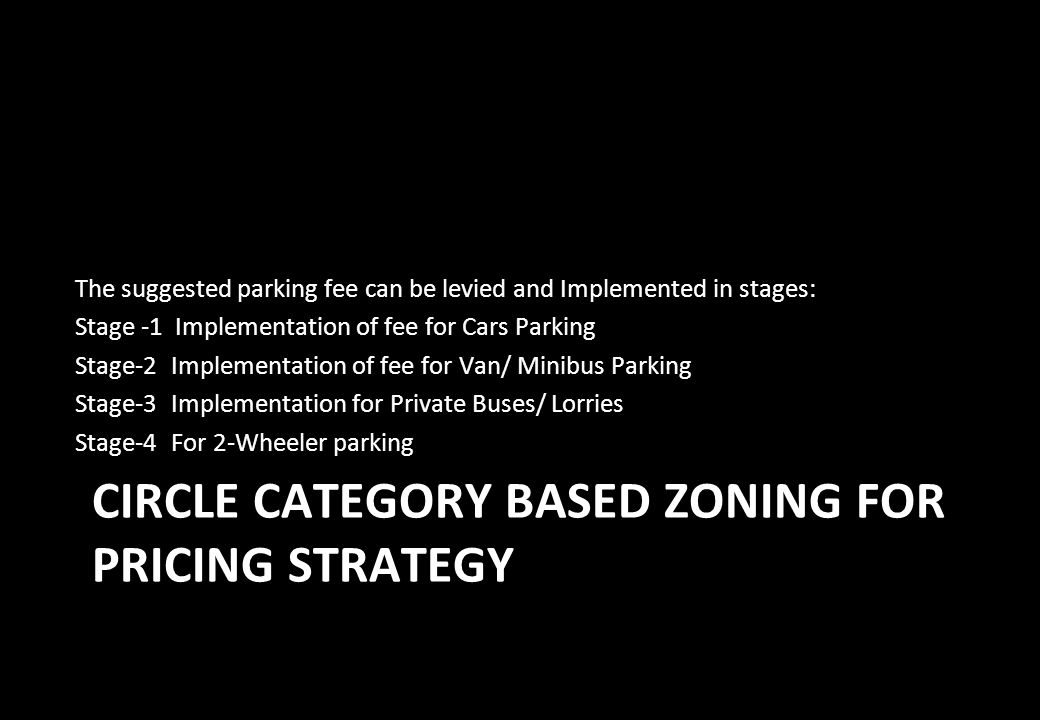 CIRCLE CATEGORY BASED ZONING FOR PRICING STRATEGY