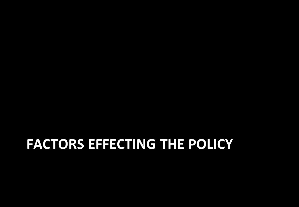 FACTORS EFFECTING THE POLICY