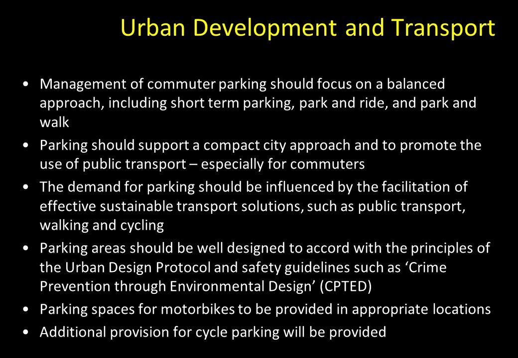 Urban Development and Transport