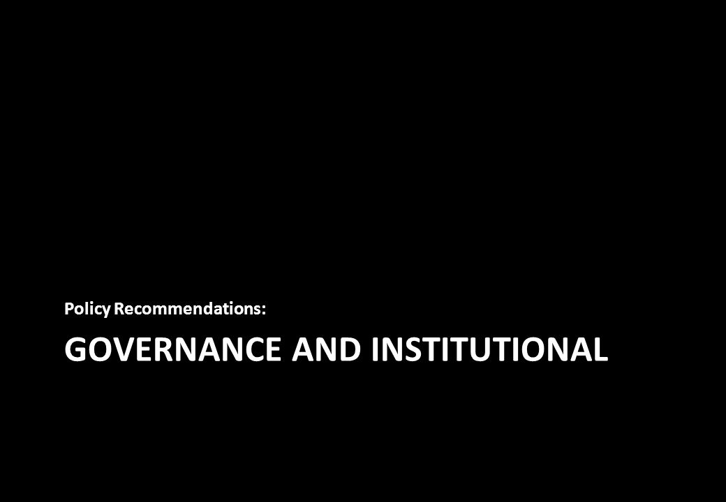 GOVERNANCE AND INSTITUTIONAL