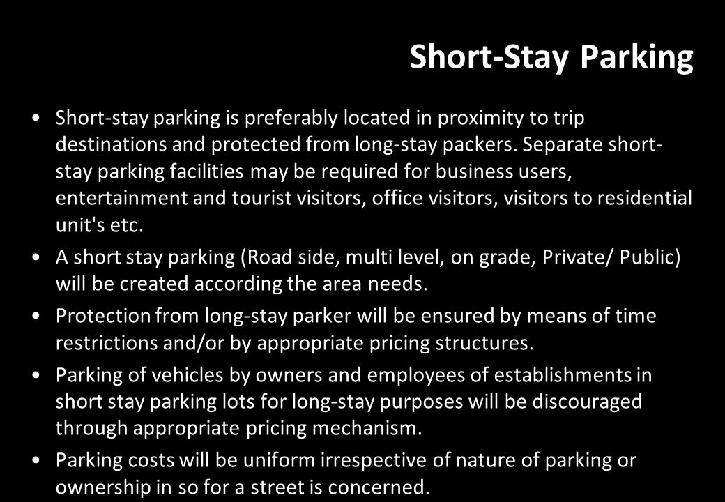 Short-Stay Parking