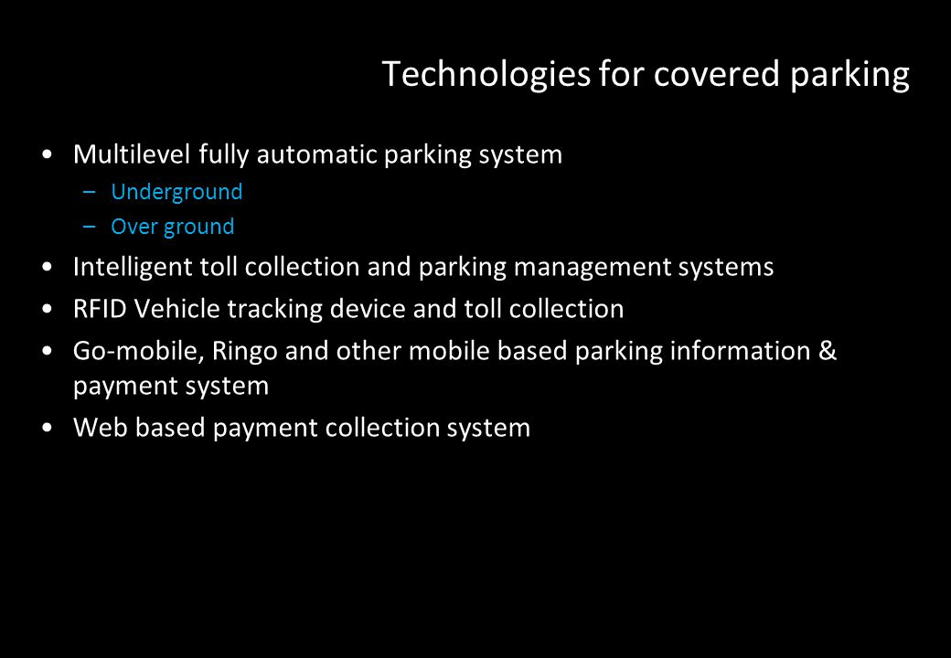 Technologies for covered parking