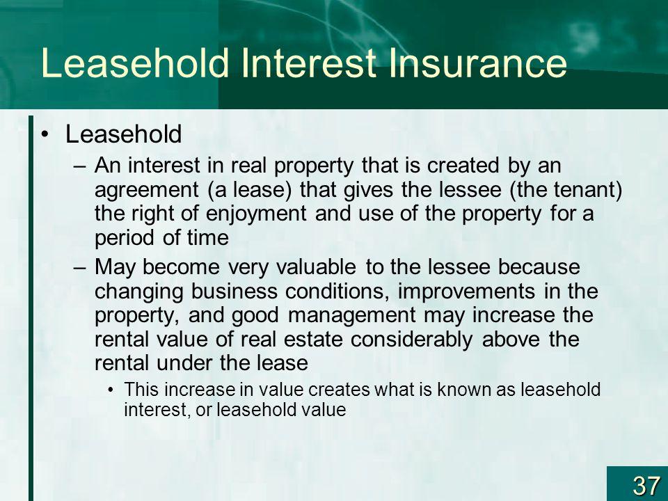 Leasehold Interest Insurance